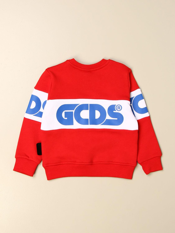 Sweater Gcds: Gcds sweatshirt with logo red 2