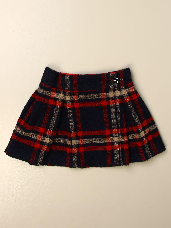 Skirt Fay: Classic Fay skirt in tartan wool blend multicolor 1