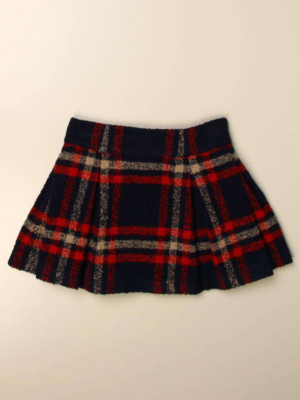 Skirt Fay: Classic Fay skirt in tartan wool blend multicolor 2