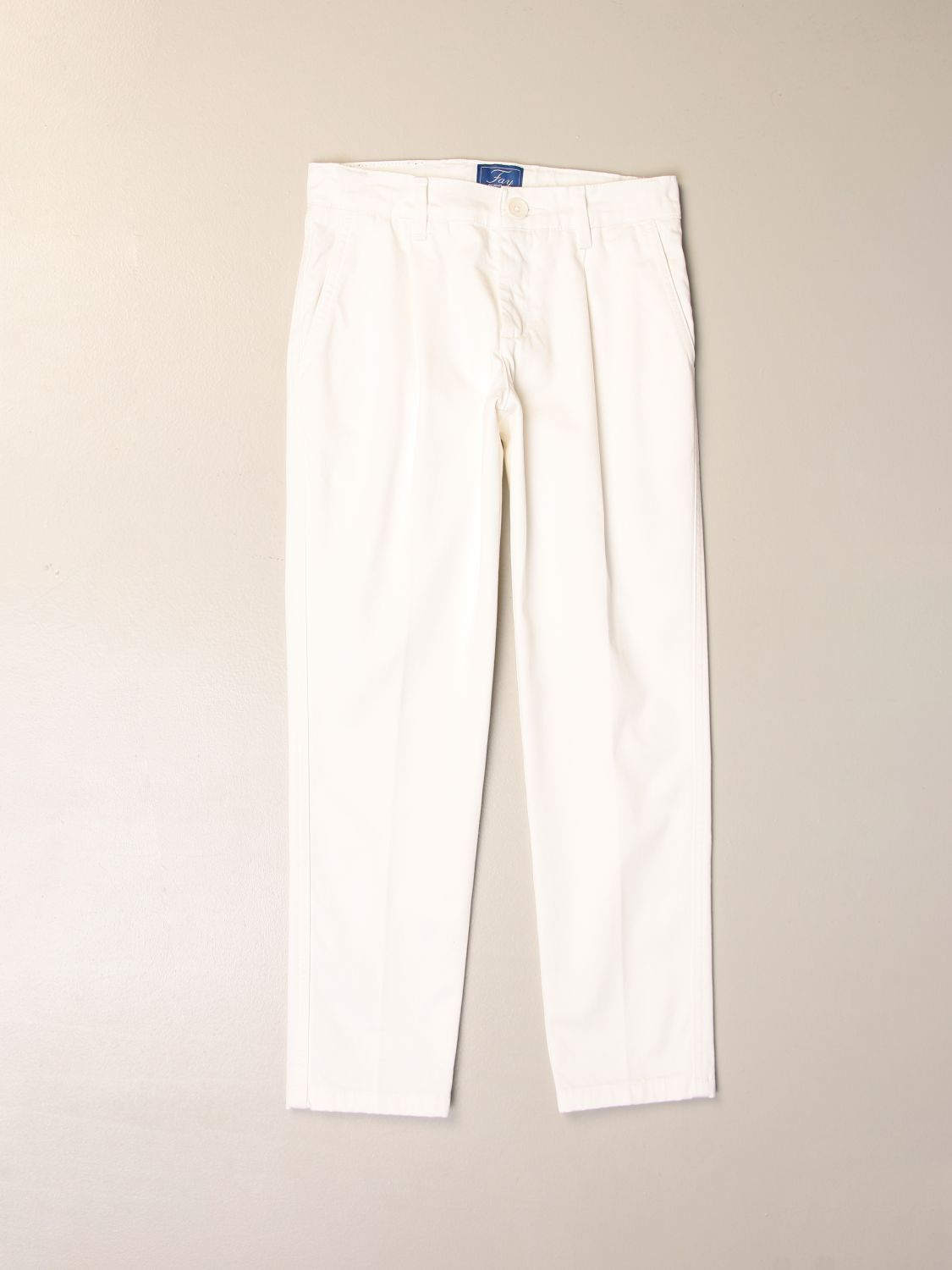 Pants Fay: Classic Fay trousers in cotton white 1