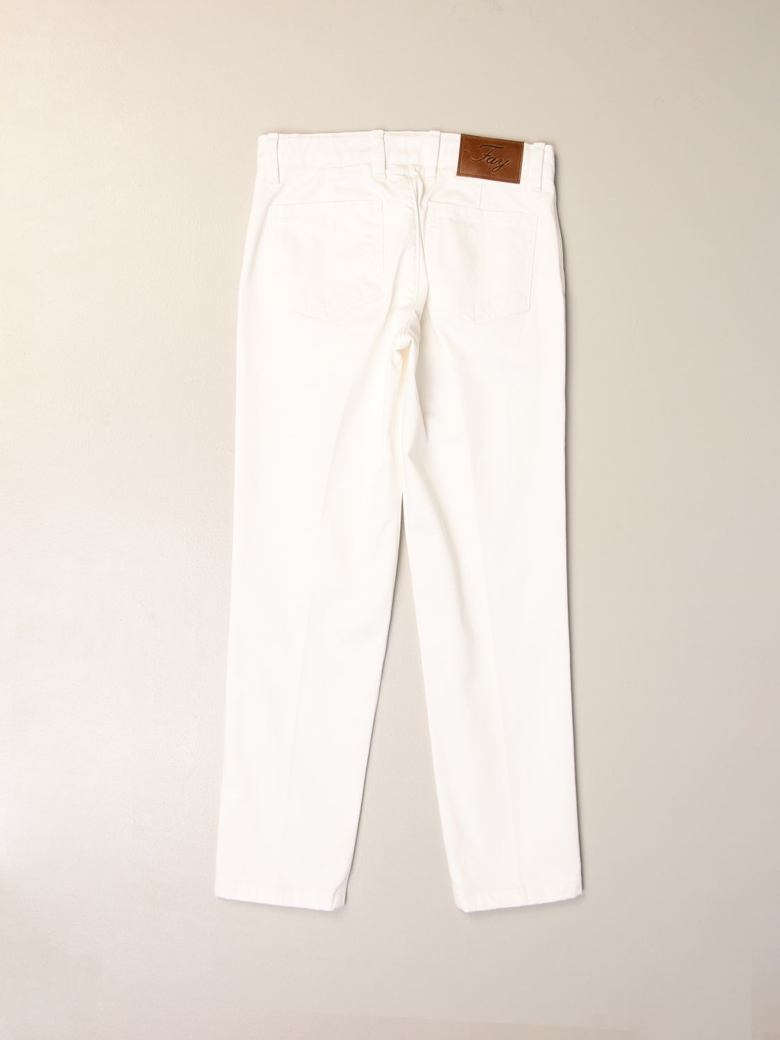 Pants Fay: Classic Fay trousers in cotton white 2