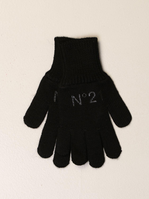 Gloves N° 21: N ° 21 gloves in ribbed wool blend black 1
