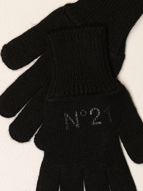 Gloves N° 21: N ° 21 gloves in ribbed wool blend black 2