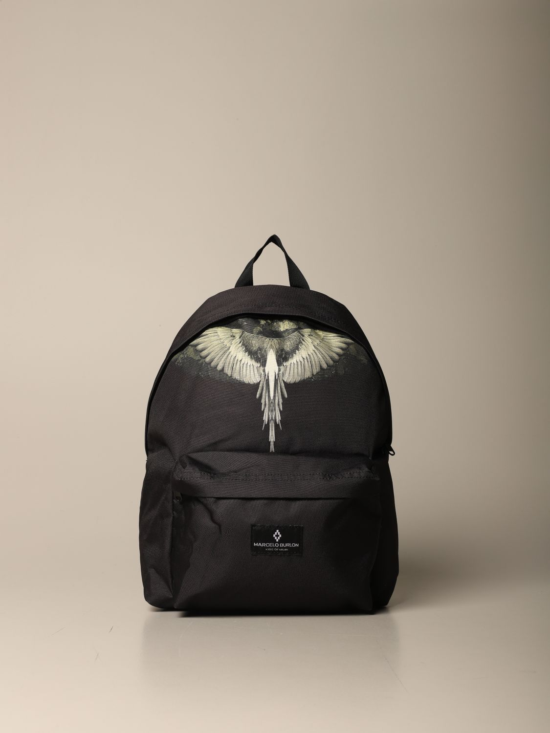 Duffel Bag Marcelo Burlon: Marcelo Burlon backpack in canvas with wings print black 1