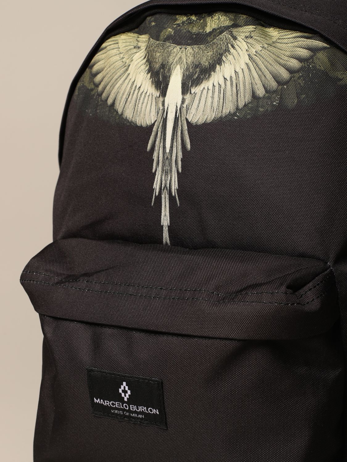 Duffel Bag Marcelo Burlon: Marcelo Burlon backpack in canvas with wings print black 3