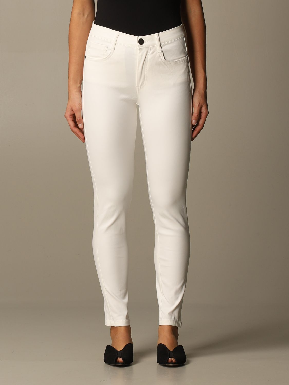 Jeans Federica Tosi: Jeans damen Federica Tosi weiß 1