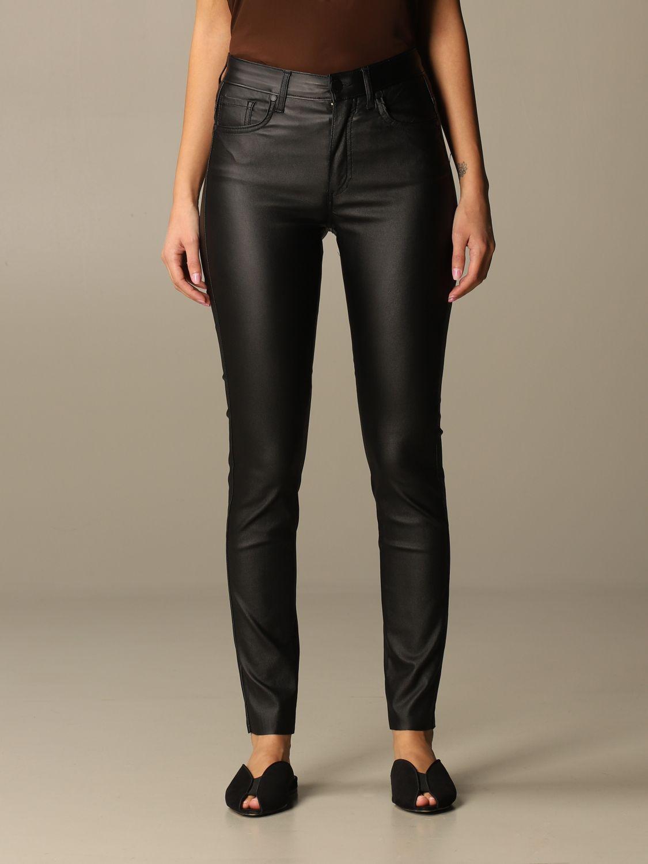 Jeans Federica Tosi: Jeans damen Federica Tosi schwarz 1