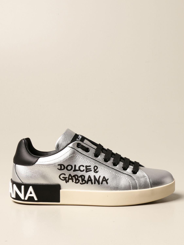 Спортивная обувь Dolce & Gabbana: Спортивная обувь Мужское Dolce & Gabbana серебряный 1