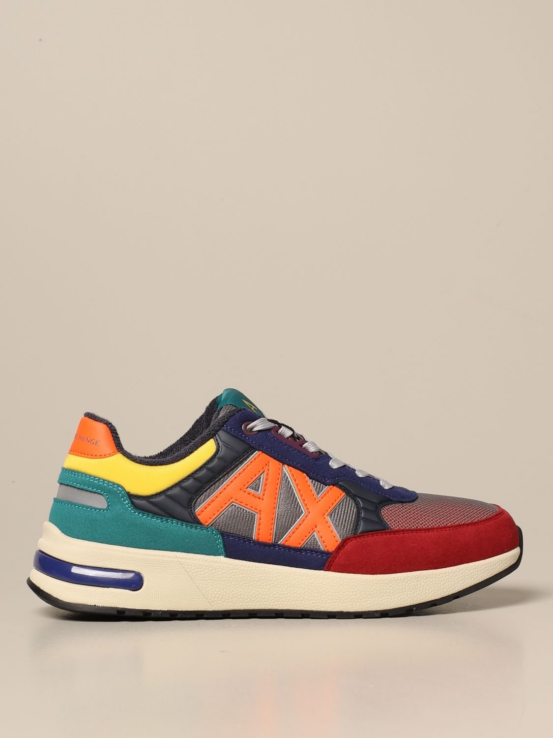 Sneakers Armani Exchange: Armani Exchange sneakers in rubber suede and mesh multicolor 1