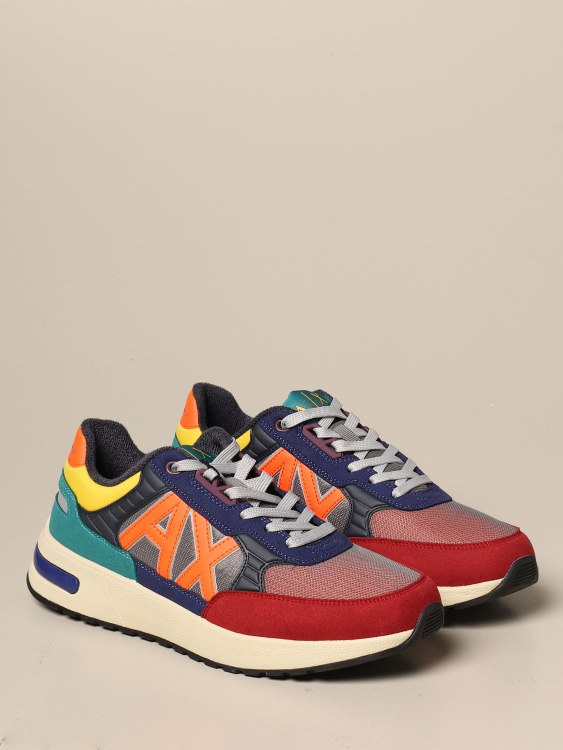 Sneakers Armani Exchange: Armani Exchange sneakers in rubber suede and mesh multicolor 2