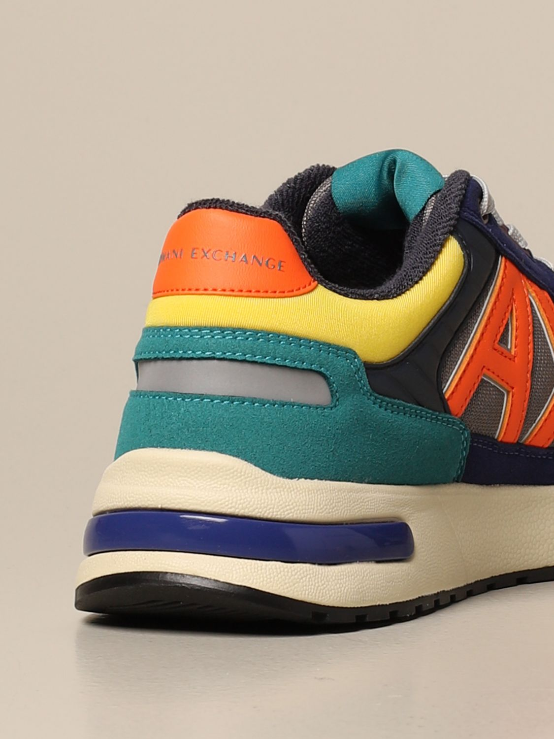 Sneakers Armani Exchange: Armani Exchange sneakers in rubber suede and mesh multicolor 3