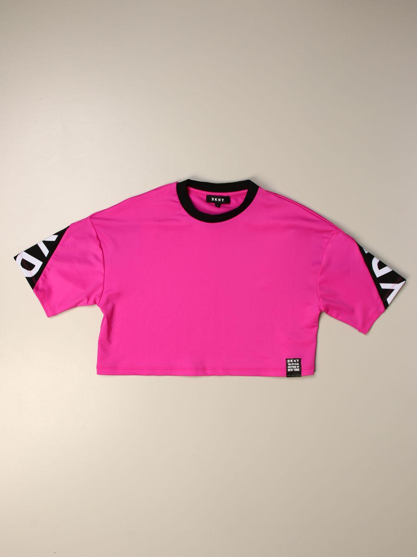 Camisetas Dkny: Camisetas niños Dkny fucsia 1