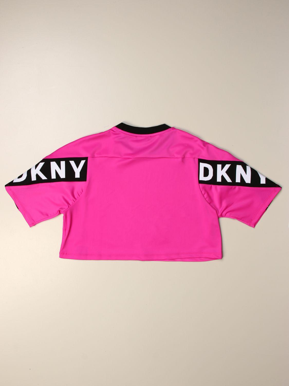 Camisetas Dkny: Camisetas niños Dkny fucsia 2