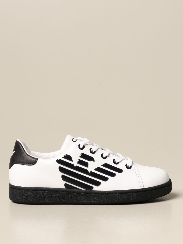 Chaussures Ea7: Chaussures enfant Emporio Armani blanc 1