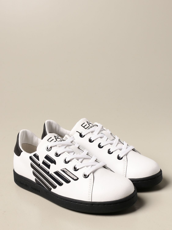 Chaussures Ea7: Chaussures enfant Emporio Armani blanc 2