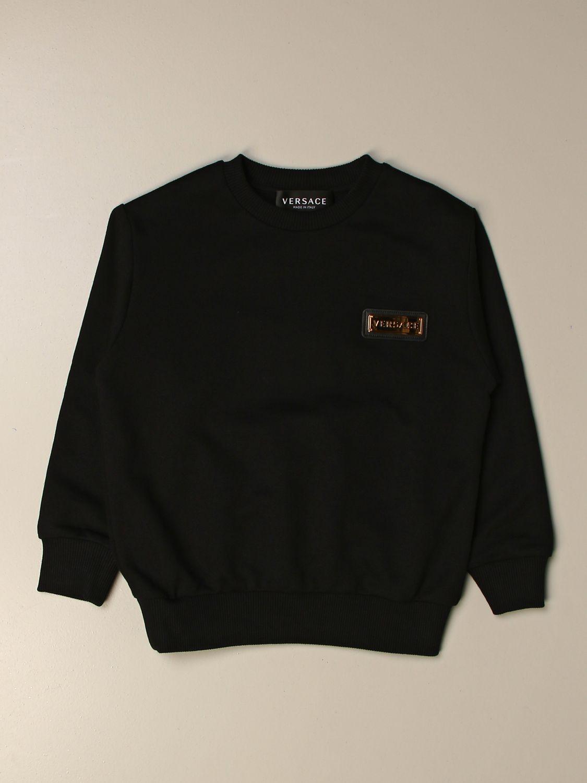 Sweater Young Versace: Versace Young crewneck sweatshirt with logo black 1