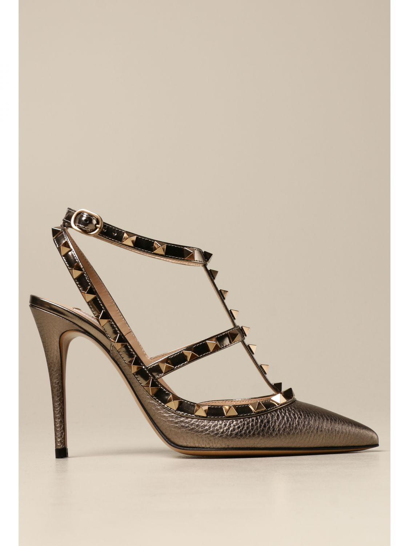 Flache Sandalen Valentino Garavani: Flache sandalen damen Valentino Garavani bronze 1