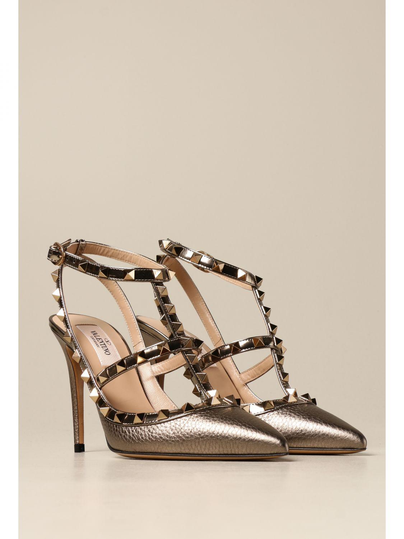 Flache Sandalen Valentino Garavani: Flache sandalen damen Valentino Garavani bronze 2