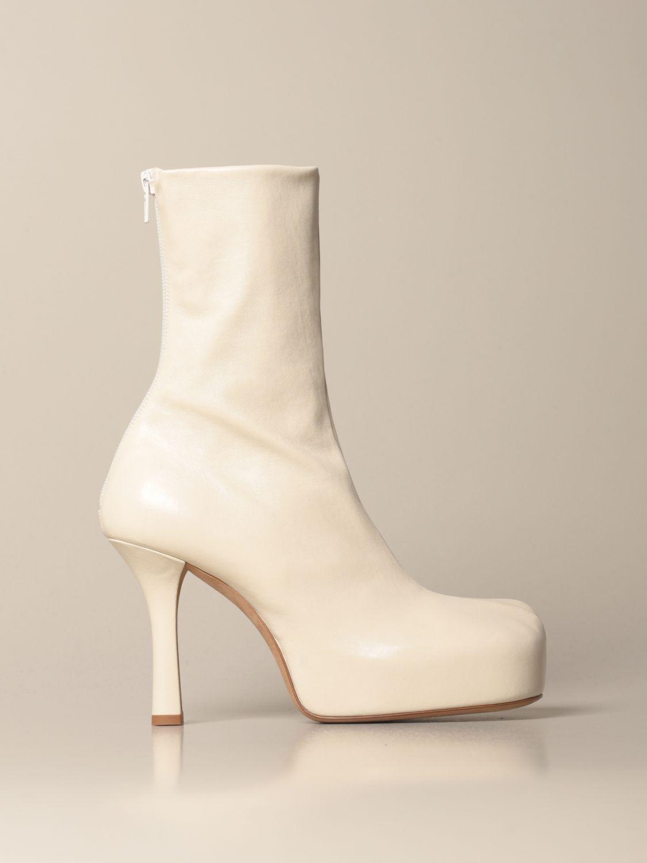Absatz Stiefeletten Bottega Veneta: Schuhe damen Bottega Veneta weiß 1