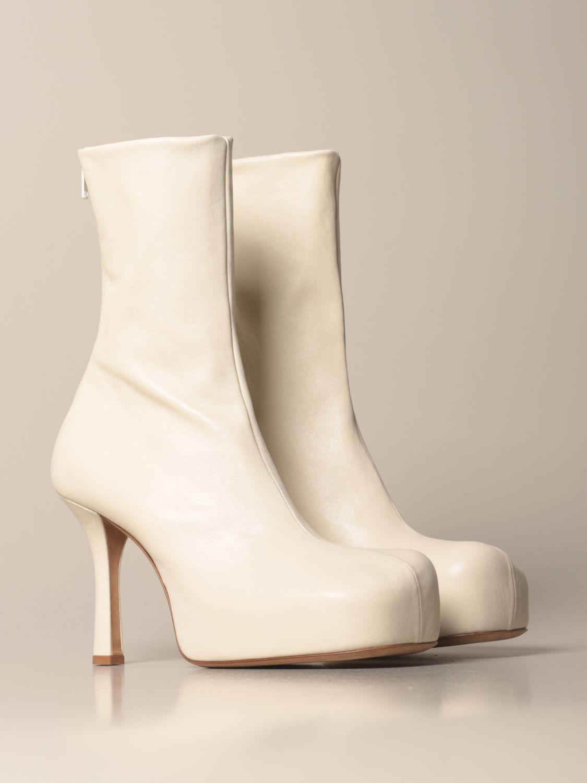 Absatz Stiefeletten Bottega Veneta: Schuhe damen Bottega Veneta weiß 2
