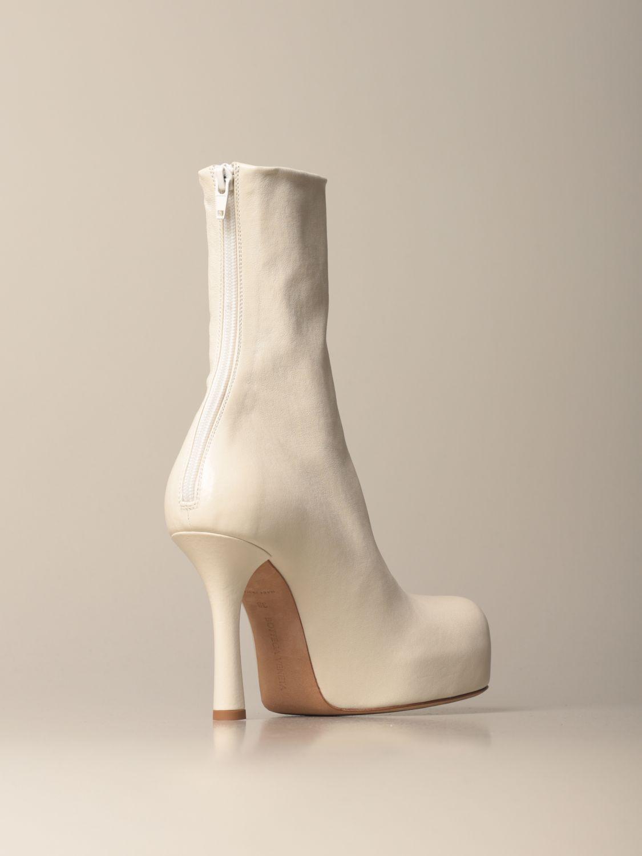 Absatz Stiefeletten Bottega Veneta: Schuhe damen Bottega Veneta weiß 3