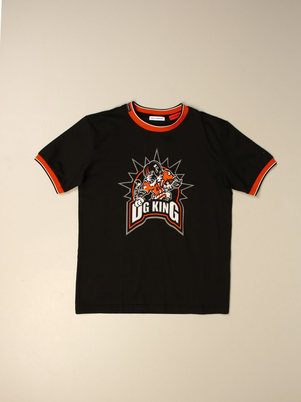 T-shirt Dolce & Gabbana: T-shirt Dolce & Gabbana con logo DG King nero 1