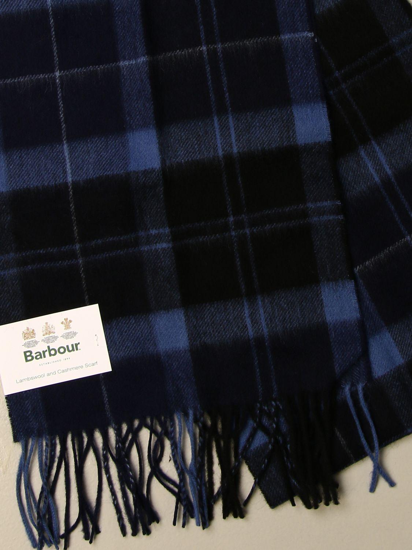 Sciarpa Barbour: Sciarpa Barbour in lana tartan blue 3