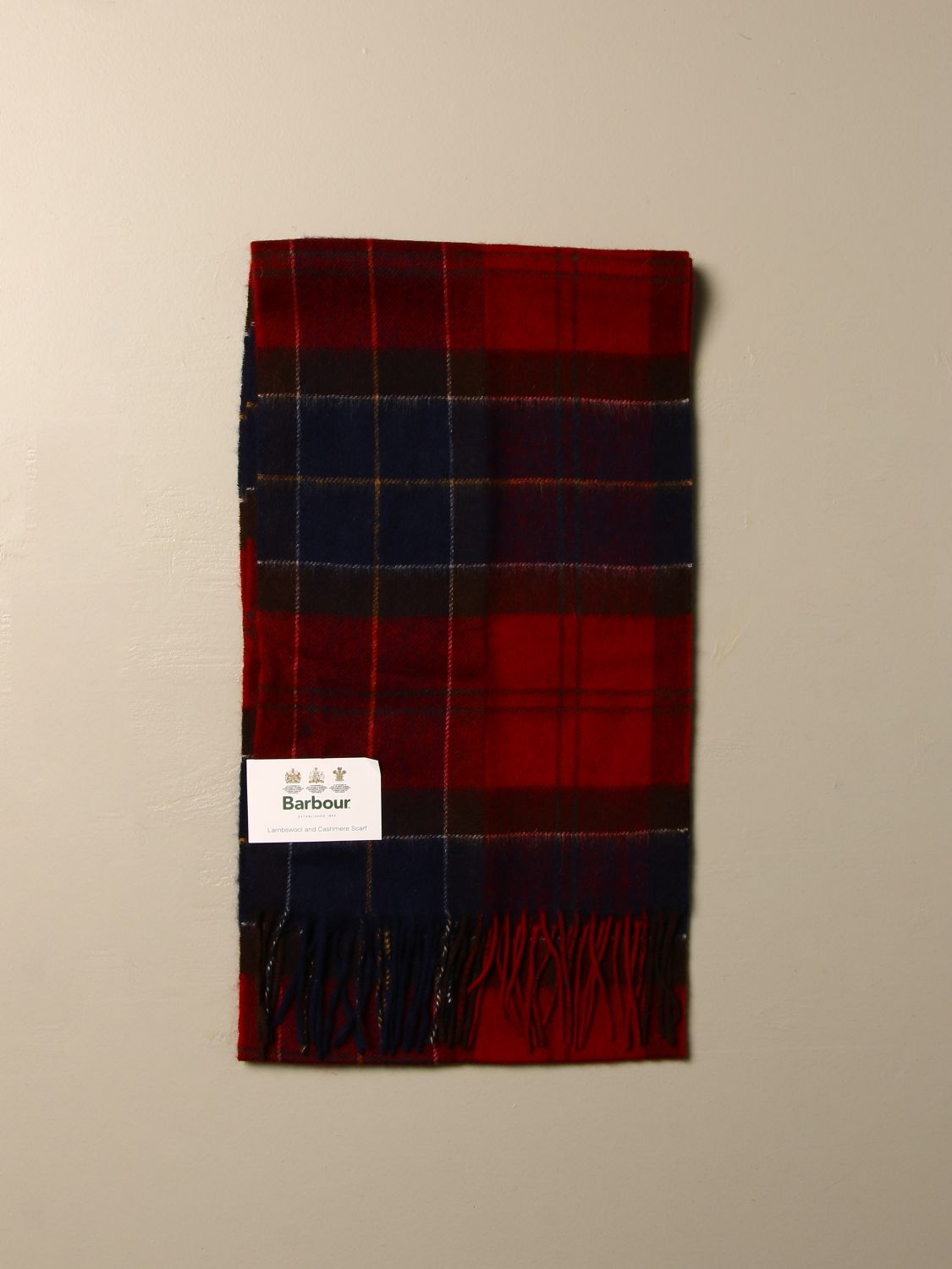 Scarf Barbour: Scarf men Barbour red 1