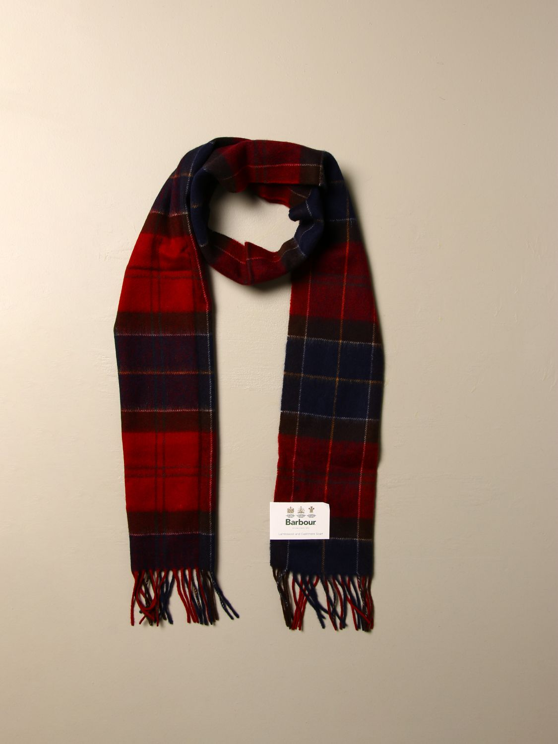Scarf Barbour: Scarf men Barbour red 2