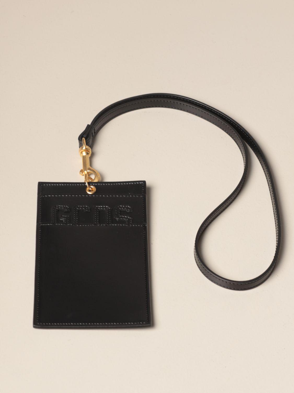 Portadocumenti Gcds: Porta documenti GCDS in pelle con logo nero 1