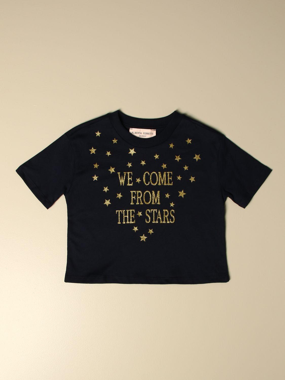 Camisetas Alberta Ferretti Junior: Camisetas niños Alberta Ferretti Junior azul oscuro 1