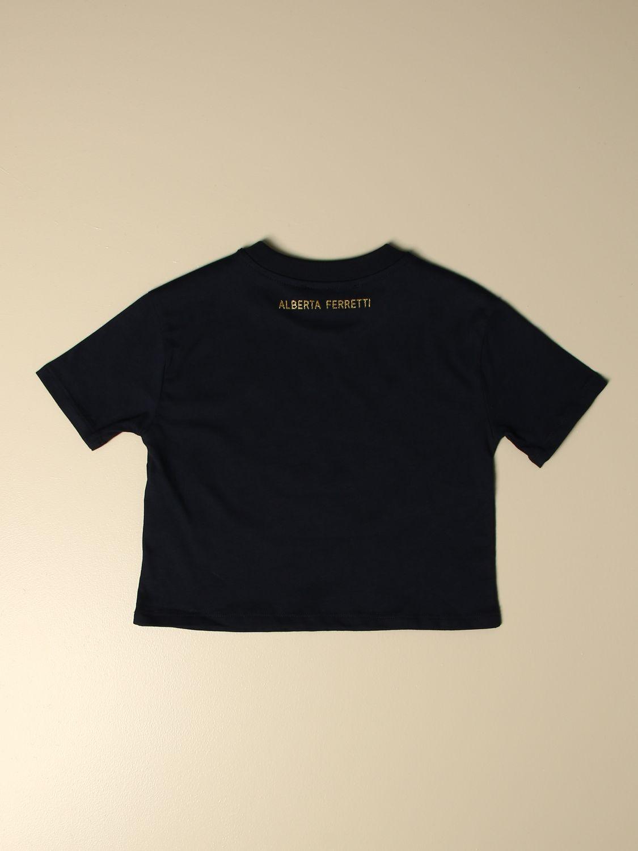 Camisetas Alberta Ferretti Junior: Camisetas niños Alberta Ferretti Junior azul oscuro 2