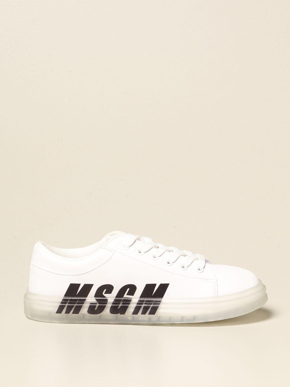 Scarpe Msgm Kids: Sneakers Msgm Kids in pelle con logo bianco 1