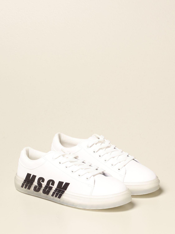 Scarpe Msgm Kids: Sneakers Msgm Kids in pelle con logo bianco 2