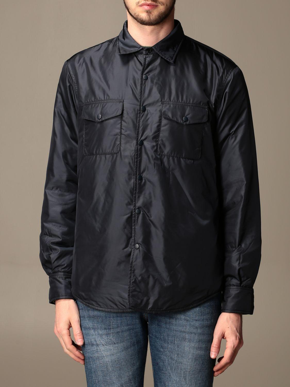 Shirt Aspesi: Aspesi waterproof shirt jacket navy 1