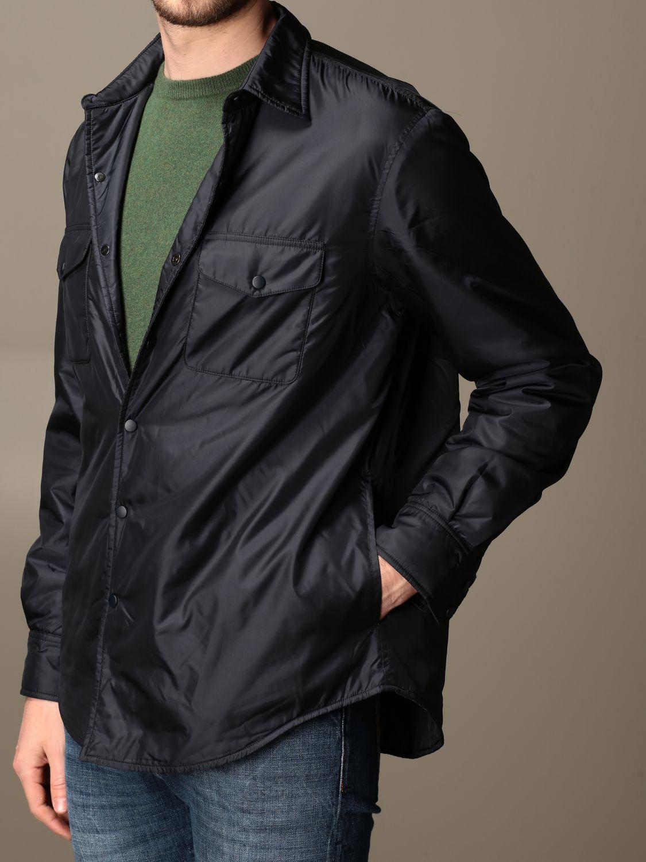 Shirt Aspesi: Aspesi waterproof shirt jacket navy 3
