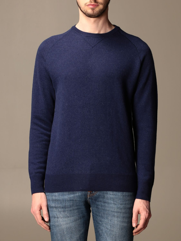 Sweater Aspesi: Aspesi basic crewneck sweater blue 1