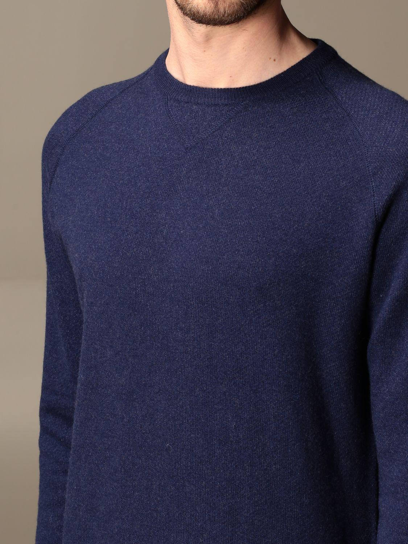 Sweater Aspesi: Aspesi basic crewneck sweater blue 3