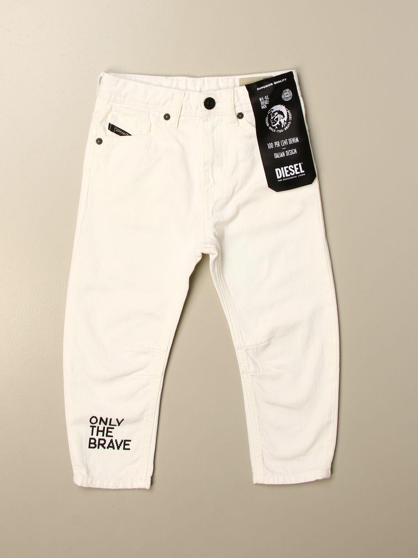 Pantalón Diesel: Pantalón niños Diesel blanco 1