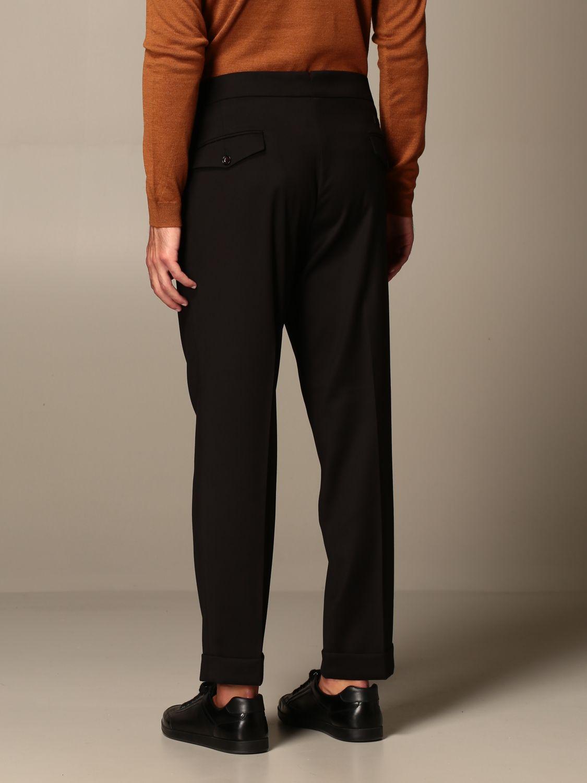 Trousers Alessandro Dell'acqua: Trousers men Alessandro Dell'acqua black 3