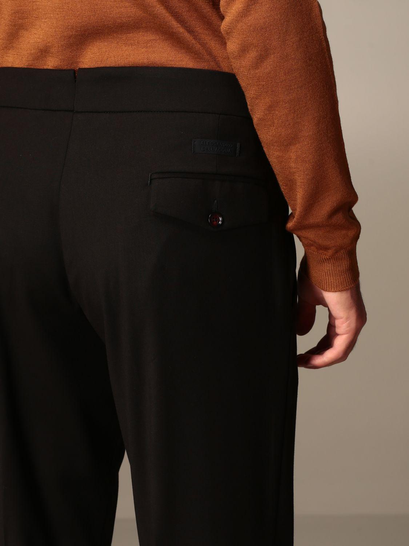 Trousers Alessandro Dell'acqua: Trousers men Alessandro Dell'acqua black 5