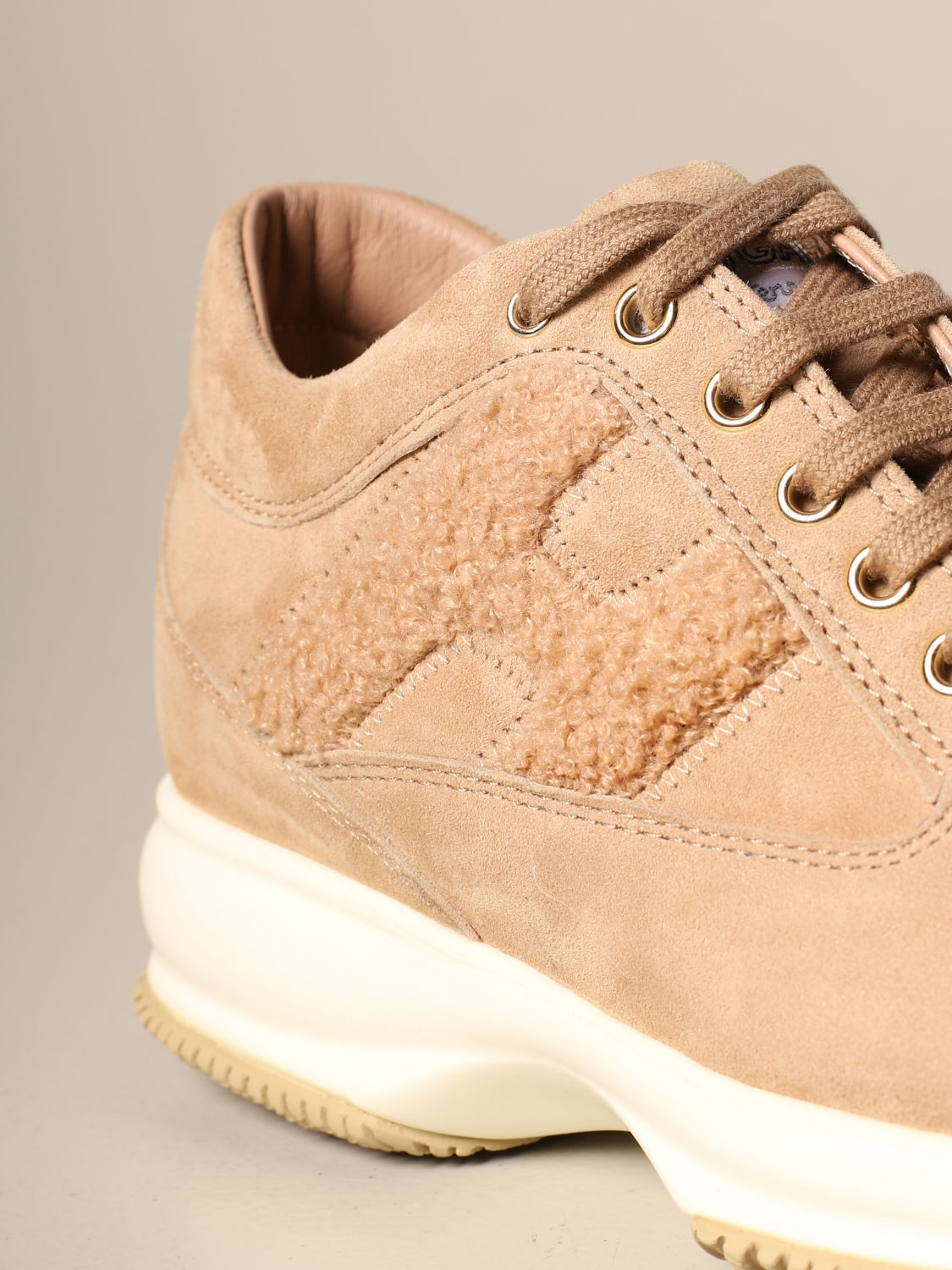 Hogan Interactive sneakers in suede with fur H