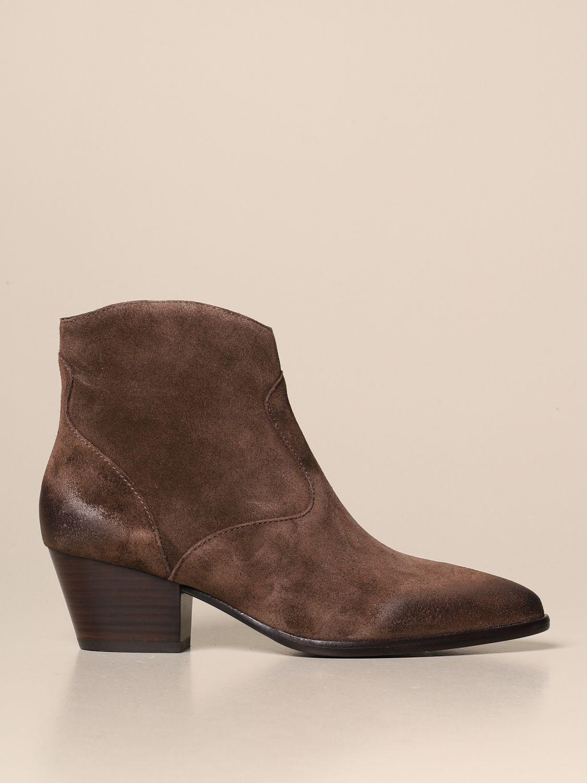 Flat ankle boots Ash: Shoes women Ash brown 1