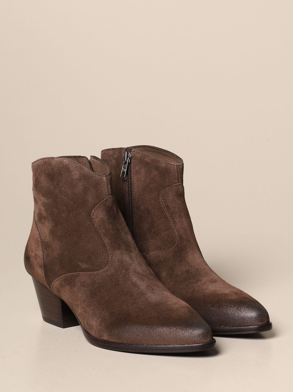 Flat ankle boots Ash: Shoes women Ash brown 2