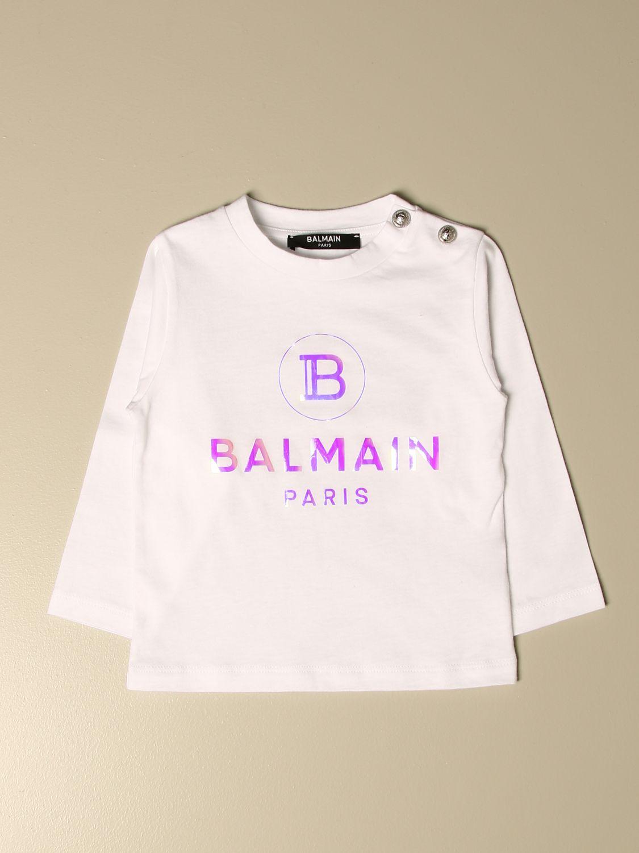 Camiseta Balmain: Camisetas niños Balmain blanco 1