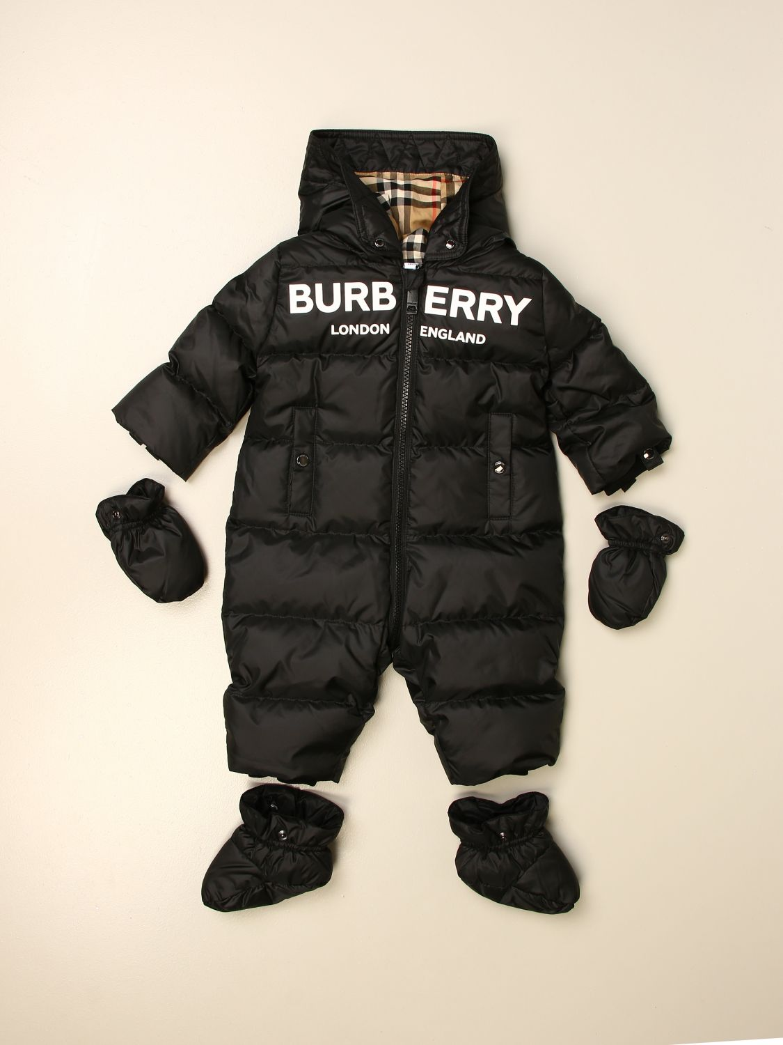 Tracksuit Burberry: Tracksuit kids Burberry black 3