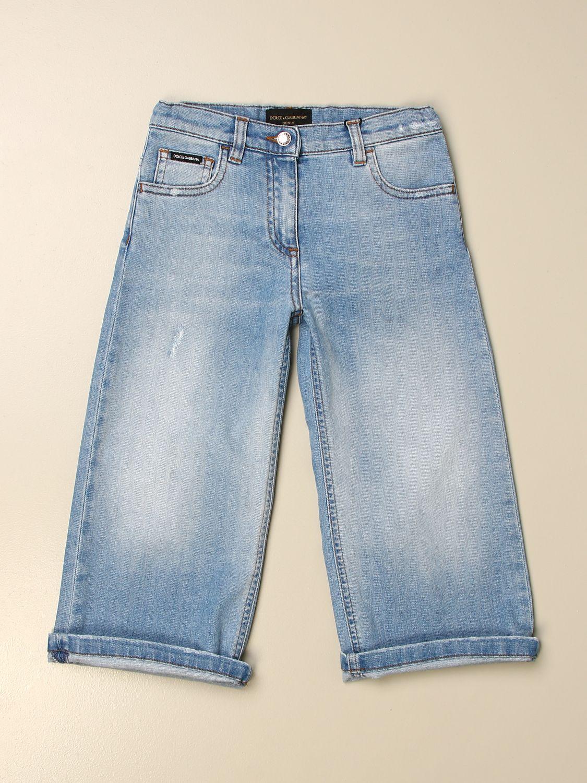 Trousers Dolce & Gabbana: Trousers kids Dolce & Gabbana gnawed blue 1