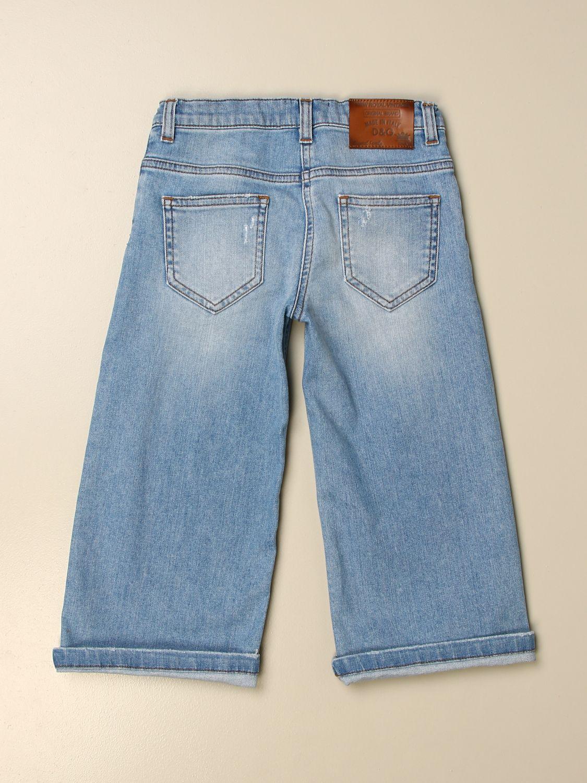 Trousers Dolce & Gabbana: Trousers kids Dolce & Gabbana gnawed blue 2