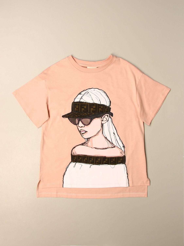 T-shirt Fendi: T-shirt enfant Fendi rose 1