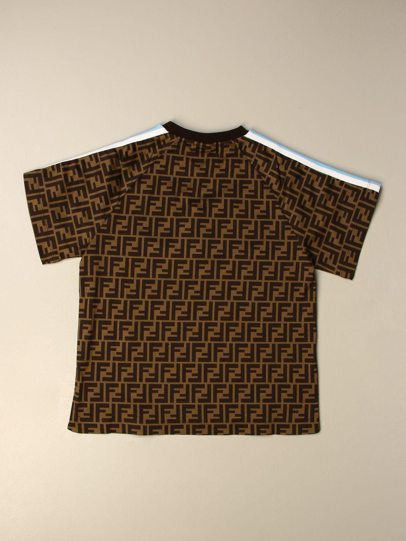 T-shirt Fendi: T-shirt enfant Fendi bleu ciel 2